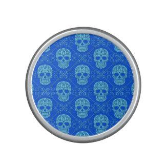 Modelo azul del cráneo del azúcar altavoz