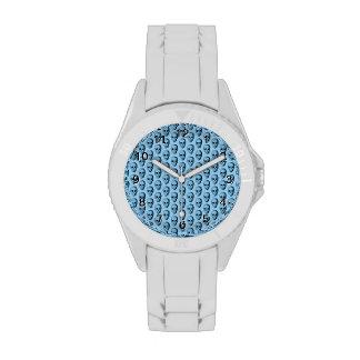 Modelo azul del cráneo relojes