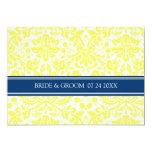 Modelo azul del damasco del amarillo de las comunicados personales