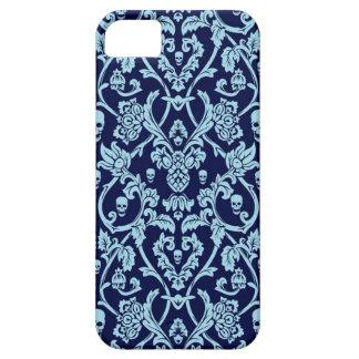 Modelo azul del damasco del cráneo iPhone 5 cobertura