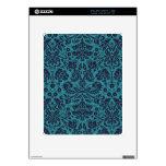 modelo azul del damasco del trullo elegante skin para el iPad