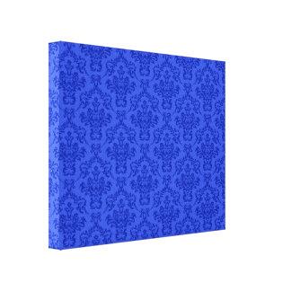 Modelo azul del damasco impresion de lienzo