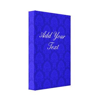 Modelo azul del damasco impresión en lona estirada