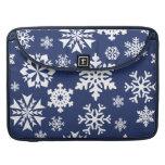 Modelo azul del día de fiesta del navidad del invi fundas para macbooks