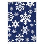 Modelo azul del día de fiesta del navidad del invi tarjetón