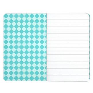 Modelo azul del diamante de la combinación cuaderno grapado