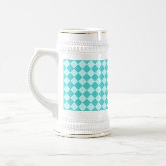 Modelo azul del diamante de la combinación jarra de cerveza