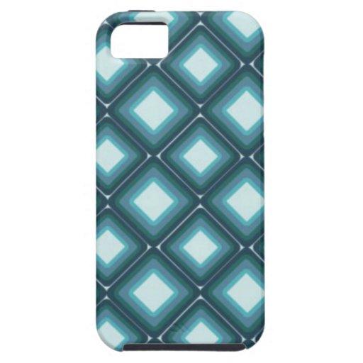 Modelo azul del diamante iPhone 5 fundas