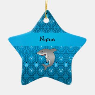 Modelo azul del enrejado del muñeco de nieve del t ornamento de navidad