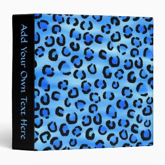 Modelo azul del estampado leopardo