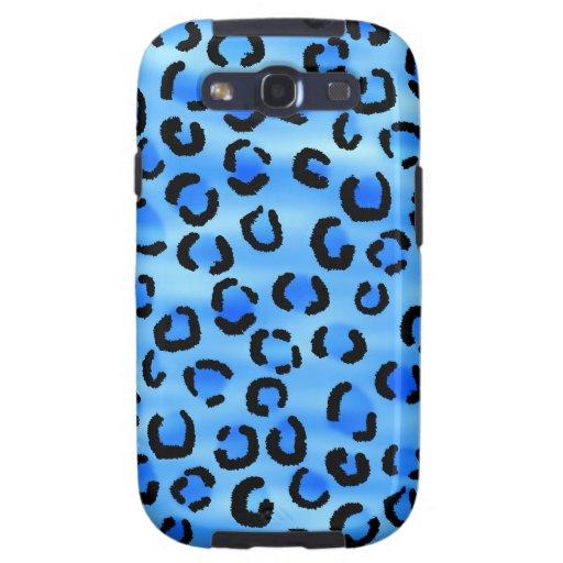 Modelo azul del estampado leopardo samsung galaxy SIII funda