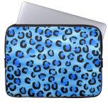 Modelo azul del estampado leopardo manga portátil