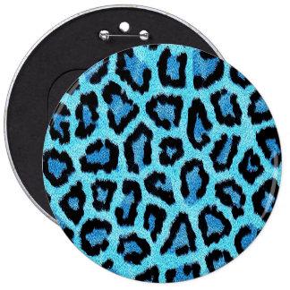 Modelo azul del estampado leopardo pin redondo de 6 pulgadas