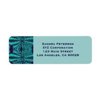 Modelo azul del extracto del alambre del trullo etiqueta de remite