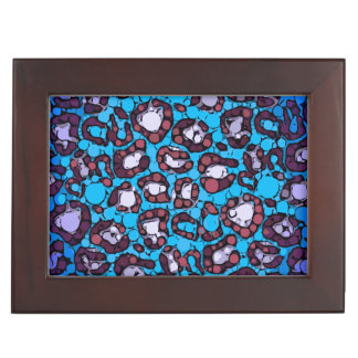 Modelo azul del extracto del guepardo de la cajas de recuerdos
