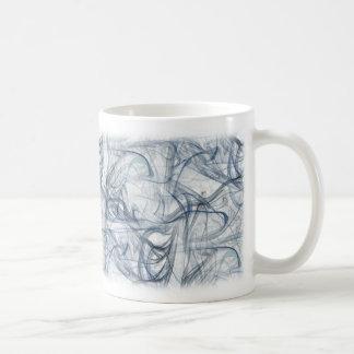 Modelo azul del fractal del humo taza