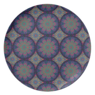 Modelo azul del fractal plato para fiesta