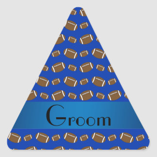 Modelo azul del fútbol de los regalos del novio calcomania trianguladas personalizadas
