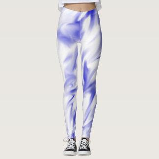 Modelo azul del gráfico de la pintura leggings