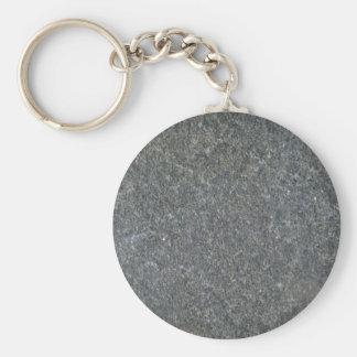 Modelo azul del granito llavero redondo tipo pin