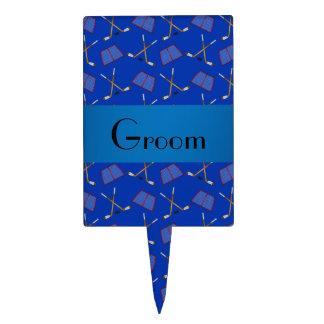 Modelo azul del hockey de los regalos del novio palillos de tarta