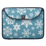 Modelo azul del invierno del día de fiesta del nav funda macbook pro
