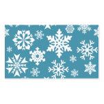 Modelo azul del invierno del día de fiesta del nav tarjeta de visita