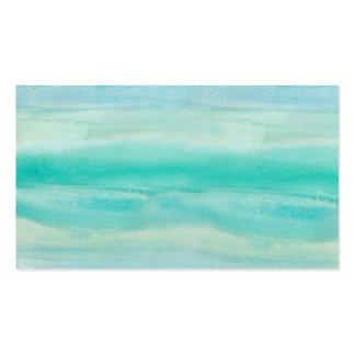 Modelo azul del lavado de la acuarela de Ombre Tarjetas De Visita