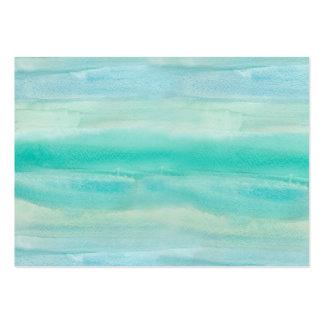 Modelo azul del lavado de la acuarela de Ombre Tarjetas De Visita Grandes