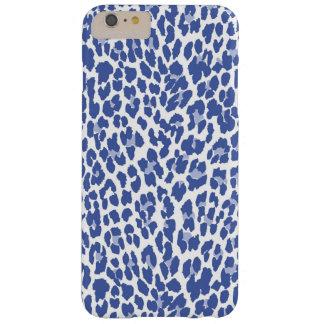 Modelo azul del leopardo funda para iPhone 6 plus barely there