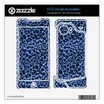 Modelo azul del leopardo HTC droid incredible skin