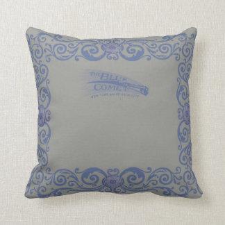 Modelo azul del mantel de la almohada del cometa cojín decorativo