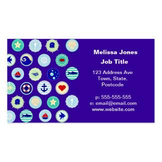 Modelo azul del marinero del mar náutico plantillas de tarjetas de visita