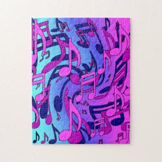 Modelo azul del Musical de la aguamarina del rosa Puzzle