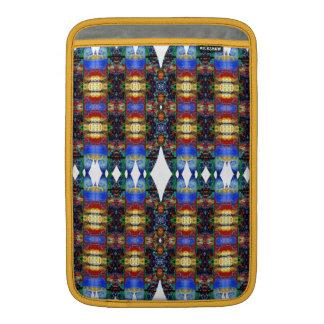 Modelo azul del nativo americano. Diseño azteca Funda MacBook