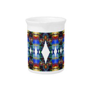 Modelo azul del nativo americano Diseño azteca Jarras Para Bebida