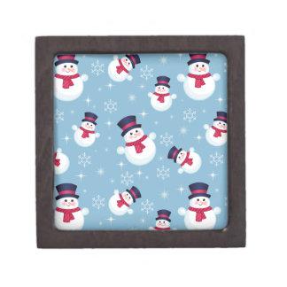 Modelo azul del navidad con los muñecos de nieve y cajas de regalo de calidad