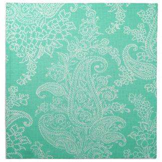 Modelo azul del paño de la flor del árbol de Paisl Servilleta
