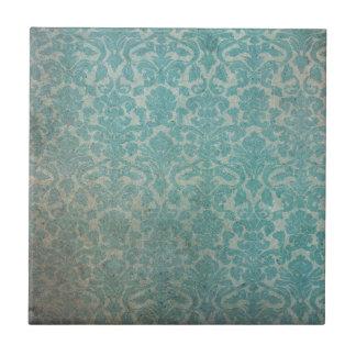 Modelo azul del papel pintado del grunge azulejo cuadrado pequeño