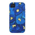 Modelo azul del ramo del iris Case-Mate iPhone 4 carcasa