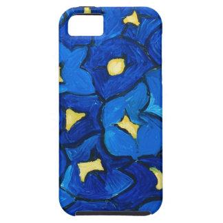 Modelo azul del ramo del iris iPhone 5 carcasa