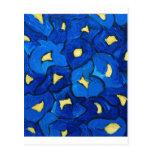 Modelo azul del ramo del iris postal