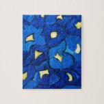 Modelo azul del ramo del iris puzzle con fotos