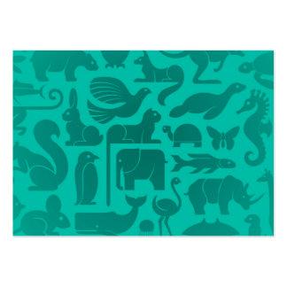Modelo azul del reino animal del trullo tarjetas de visita grandes