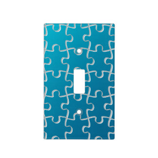 Modelo azul del rompecabezas tapa para interruptor