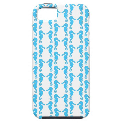 Modelo azul del Seahorse Funda Para iPhone SE/5/5s
