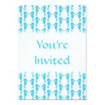 Modelo azul del Seahorse Invitación 12,7 X 17,8 Cm