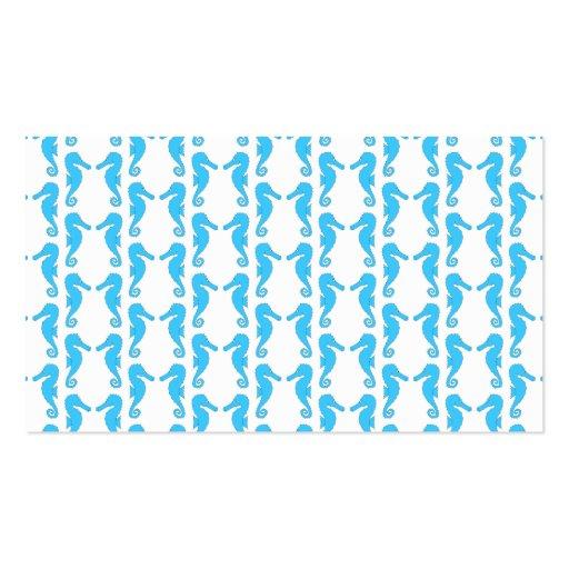 Modelo azul del Seahorse Plantilla De Tarjeta De Visita