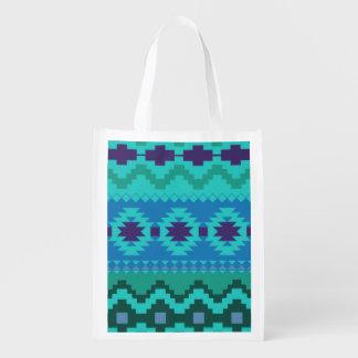 modelo azul del sudoeste - arte abstracto bolsa para la compra