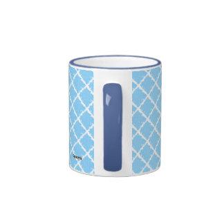 Modelo azul del teñido anudado taza a dos colores